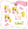 Pretty Pink Unicorn vector image