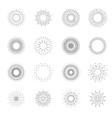 Simple retro fireworks or vintage shine radiant vector image