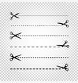 scissors line cut vector image vector image