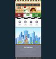 flat style pizzeria interior web site design vector image