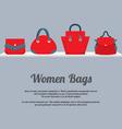 Women Handbags Display On Shelf vector image