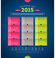 Calendar 2015 template design vector image
