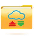 folder download vector image vector image