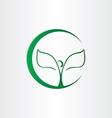 plant man tree leafs icon vector image