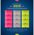 Calendar 2015 template design vector image
