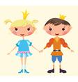 cartoon prince and princess vector image