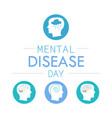 depression mental disease icon vector image