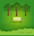 hello park natural landscape in the flat style a vector image