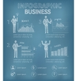 Sketch Business Infographics vector image