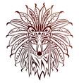 tribal fox vector image