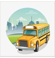 Yellow bus of back to school design vector image