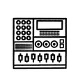 figure electronic audio console to play music vector image