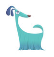 furry and funny purebred doggy cartoon vector image