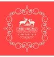 The Christmas postcard vector image vector image