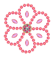 Colored marquise round cut gems vector image