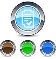form round button vector image vector image