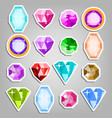 colored set gems bright realistic vector image