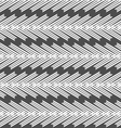 Monochrome pattern with striped white chevron on vector image