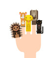 with animals Different forest animals rabbit bear vector image