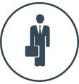 businesman with a case vector image