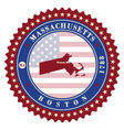 Label sticker cards of State Massachusetts USA vector image