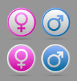 Venus and Mars female and male symbols vector image vector image