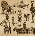 Traveling South Africa - An hand drawn pack vector image