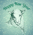 Sheep with snowflake vector image