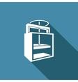 Old printing press icon vector image