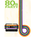 80s party flyer vector image vector image