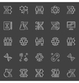DNA and genetics linear icons vector image