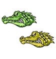 Alligator head for mascot vector image