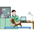 animal medical care concept vector image