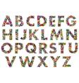 Colorful upper case alphabet letters vector image