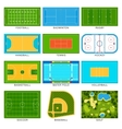Game fields set vector image