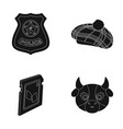 Milk law and order and or web icon in black style vector image