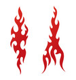 red tattoo fire flames vector image