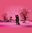 valentines day background with man and woman in vector image