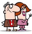 happy man and woman couple cartoon vector image vector image