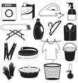 Laundry and Cleaning Icons vector image