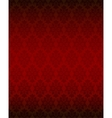 Luxury seamless red floral wallpaper vector image