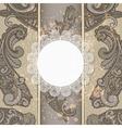 menu with paisley pattern vector image vector image