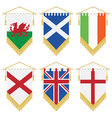 uk and ireland pennants vector image vector image