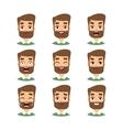 Bearded man face vector image