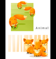 Animal background with Foxes 2 vector image