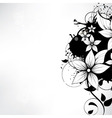 background with floral ornament vector image