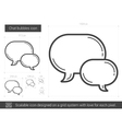 Chat bubbles line icon vector image