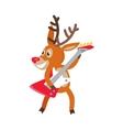 Deer Rock Musician Cartoon Cartoon vector image