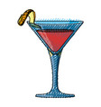 delicious cocktail drink vector image