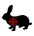 Hare crosslines vector image
